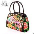 XIYUAN BRAND 5 colors Ethnic handmade textile Embroidered handbags Vintage women Shoulder bags large shopping bags Travel bag