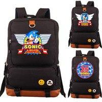 Sonic Mania The Hedgehog Anniversary 25th School Backpack Students Bag Laptop Bag Xmas Gift Boys Girls