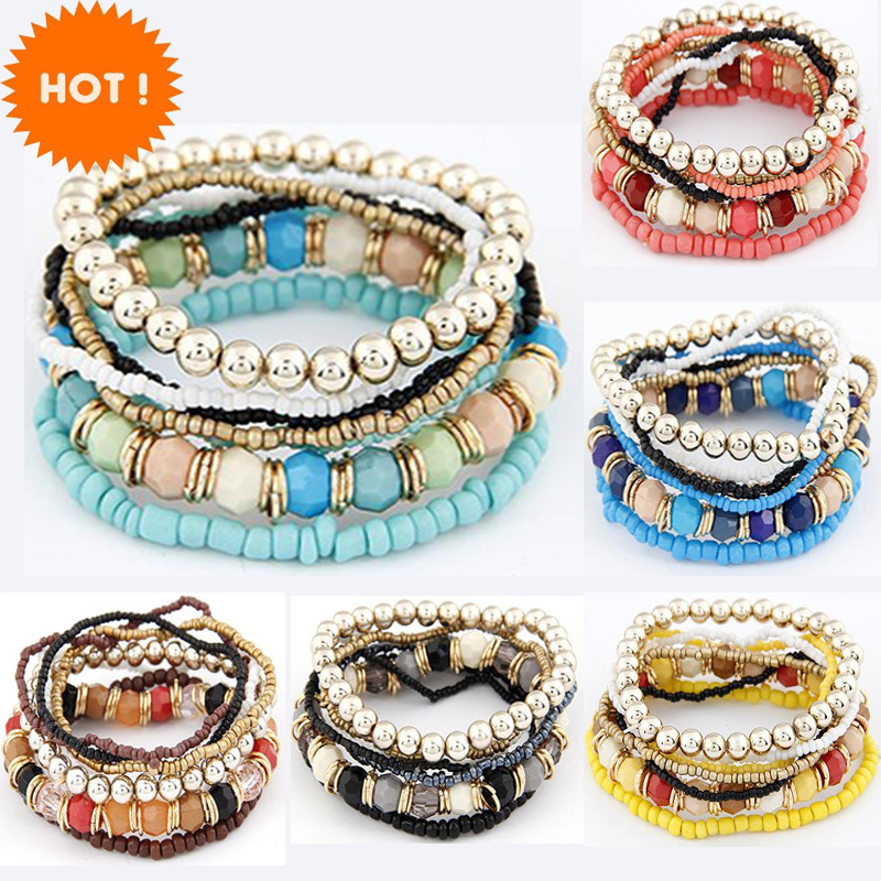Top 8 Most Popular Glass Bead Bracelete List And Get Free Shipping