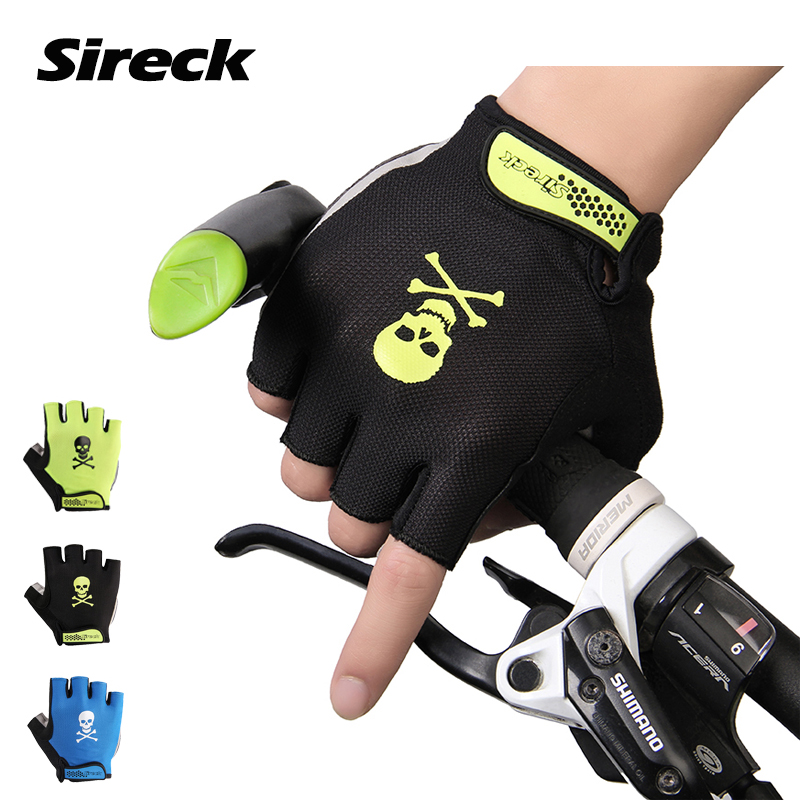 Sireck Cycling Gloves Summer MTB Road Half Finger Bike Gloves Breathable Pro Pad Bicycle Gloves Mittens Guantes Luvas Ciclismo