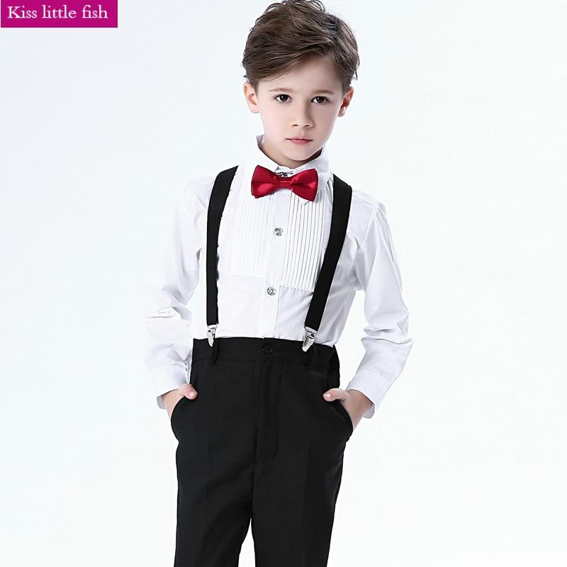 Traje elegante de boda para niño, traje de manga larga, primavera y otoño, Envío Gratis