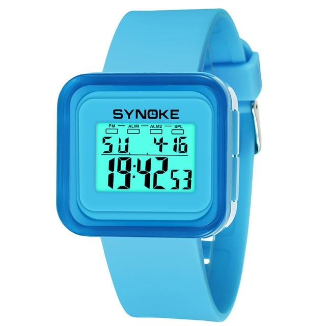 Vogue Fashion Boys Girls Children Student Watches Waterproof Sport Watch LED Dig