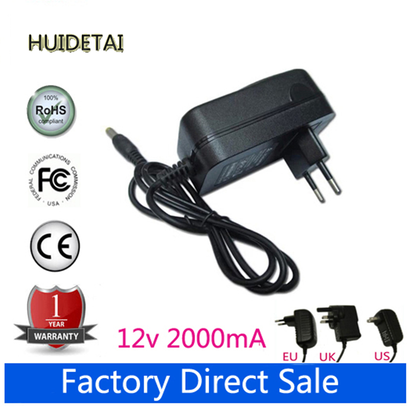 12V 2A Universal AC DC Power Supply Adapter Wall Charger For Ktec