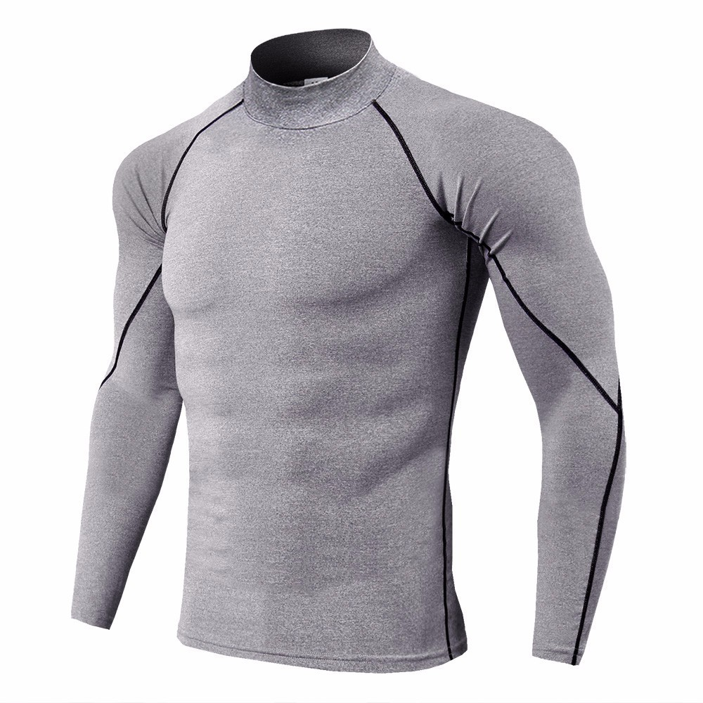 Super Elastic Quick Dry Gym Running T Shirt Men Bodybuilding Sportswear T shirt Long Sleeve Compression Top Men 39 s Fitness Tight in Running T Shirts from Sports amp Entertainment