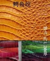 Tela Tapiceria Muebles Faux Leather Material Crocodile Leather Fabric Synthetic Gloves Fish Textile Sofa Craft Furniture