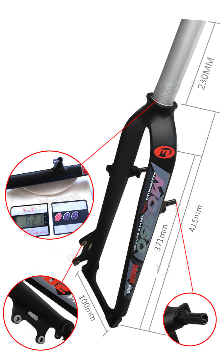 цена на MOSSO mountain Bike Fork 26 Bicycle Fork MTB MD2 Disc Brake +V Brake aluminum alloy Forks