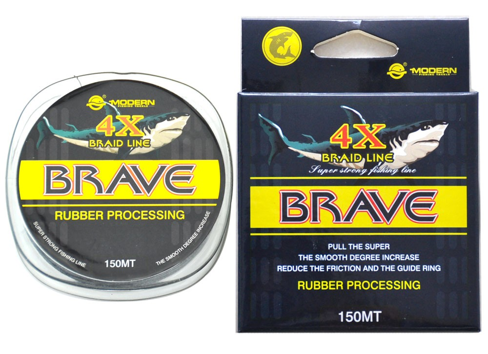 150M 4X BRAVE MODERN FISHING Brand1M 1Color Japan Multifilament PE braided fishing line 8 10 15  25 30 35 40 45 50LB new 15 4