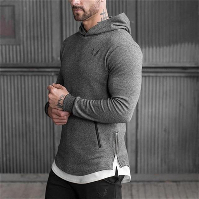 vêtements Mode Sweatshirts pull nouveaux Musculation sport printemps À veste fitness 2018 loisirs Hommes top Capuche pxHqBYYXw
