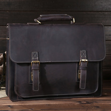 6cacbbb7d9a Retro mad horse leather postman bag leather briefcase single shoulder bag  oblique satchel handbag 6912(