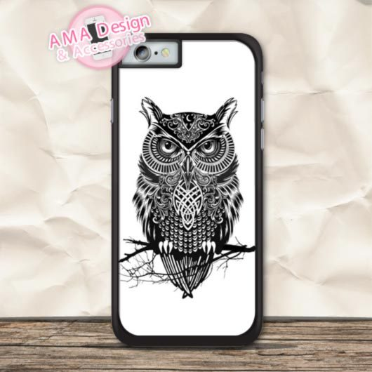 Owl On Branch Phone Case For iPhone X 8 7 6 6s Plus 5 5s SE 5c 4 4s For iPod Touch 5 4