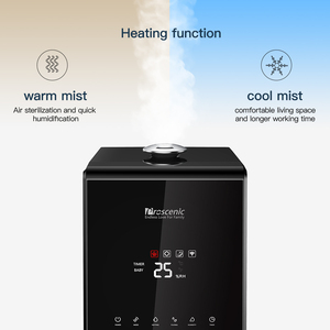 Image 4 - Proscenic 807C Ultrasonic Humidifier 5.5L Vaporizer Warm and Cool Mist for Large Room App and Alexa Control, LED Air Humidifier