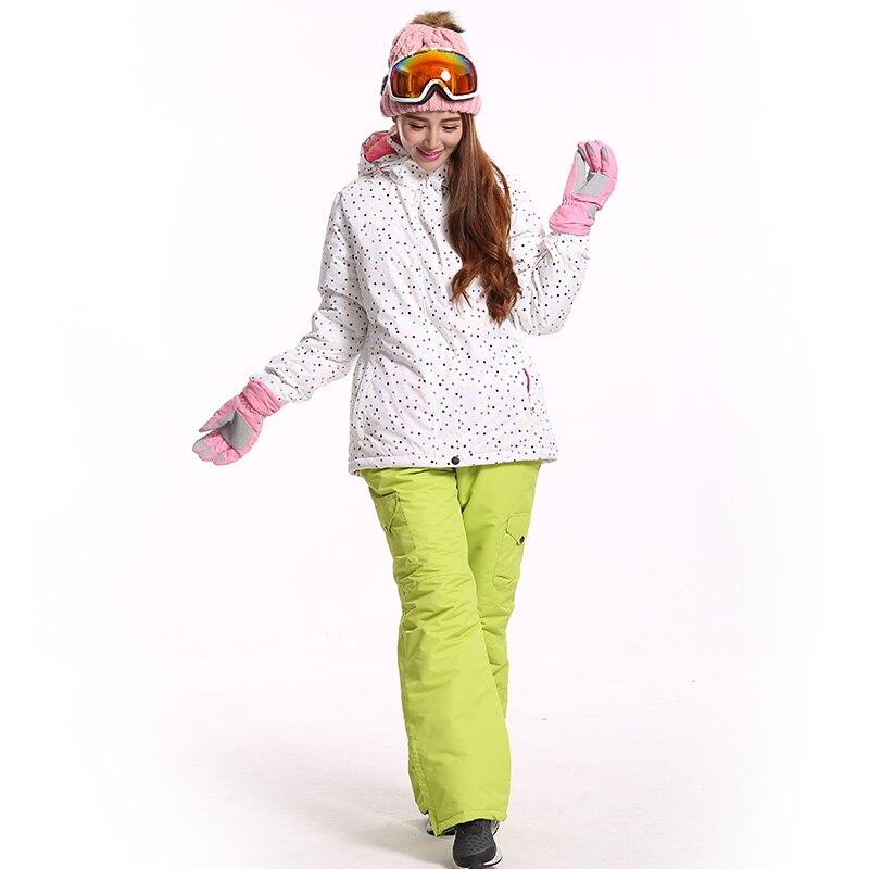 Prix pour Haute Qualité Femmes Ensemble de Ski Snowboard Pantalons Et Vestes D'hiver Randonnée Neige Pantalon Étanche Pantalon Sport En Plein Air Ski Vestes