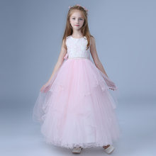 0b787bbca24 Beach Long Girls Party Dress Wedding Christmas Pink Vestido De Festa Longo  2018 Girl Clothes 4 6 8 10 12 14 16 18 Years 184014