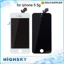 Replacement For iPhone 5G LCD 5 LCD Display + Touch Screen Digitizer Assembly Black White Brand New No Dead Pixels Spot Stripes