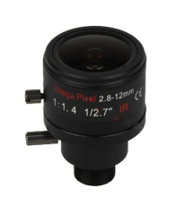 3.0Megapixel Fixed Iris M12 HD 2.8-12mm Varifocal cctv IR HD Lens,F1.4,manual focus zoom,view angle 90~28degree