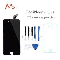 Iphone 6/6 plus 5 s 5 beyaz siyah için yedek lcd ekran Digitizer Hiçbir Ölü Piksel dokunmatik ekran montaj + araçları + temperli