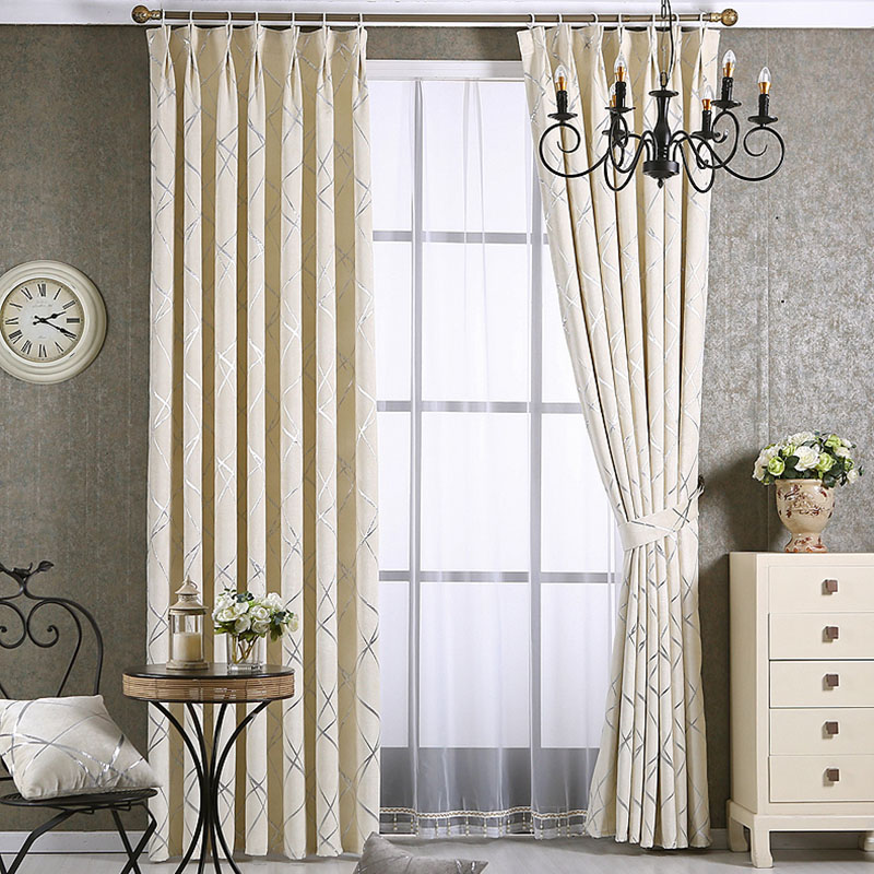 europe jacquard silver wire curtains for living room. Black Bedroom Furniture Sets. Home Design Ideas