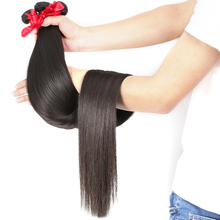 30 32 34 36 40 inch Brazilian Raw Virgin Long Hair 1 3 4 5 Bundles Straight Human Hair Weave Hair Extensions Natural Color