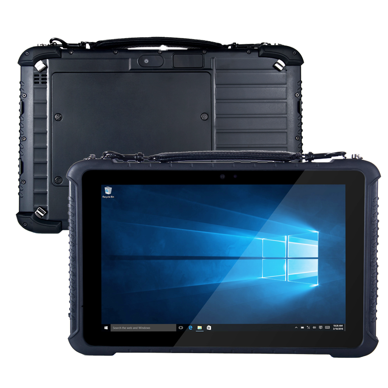 10.1 Inch RS232 Serial DB9 Port Finger Printer RAM 4GB ROM 64GB  Windows 10 Home Rugged Tablets With Docking  Station