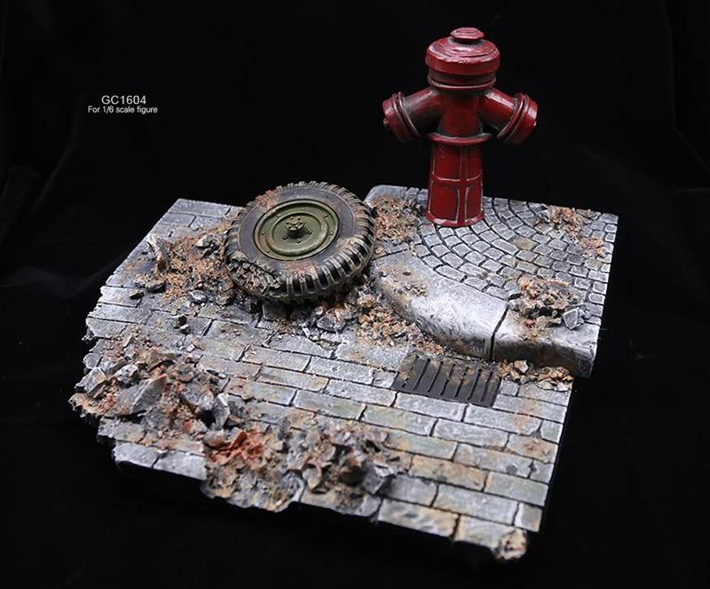 1/6 фигурка солдата аксессуары для сцены GC1604 мировая война II европейские уличные руины Модель сцена платформа, игрушка для 12 ''фигурка - 6