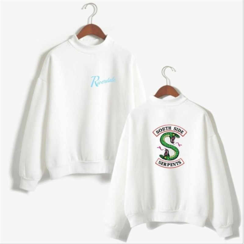 Riverdale South Side Serpents Hoodie Sweatshirts SouthSide Funny Cartoon Print Women Hooded PulloverTracksuit female hood