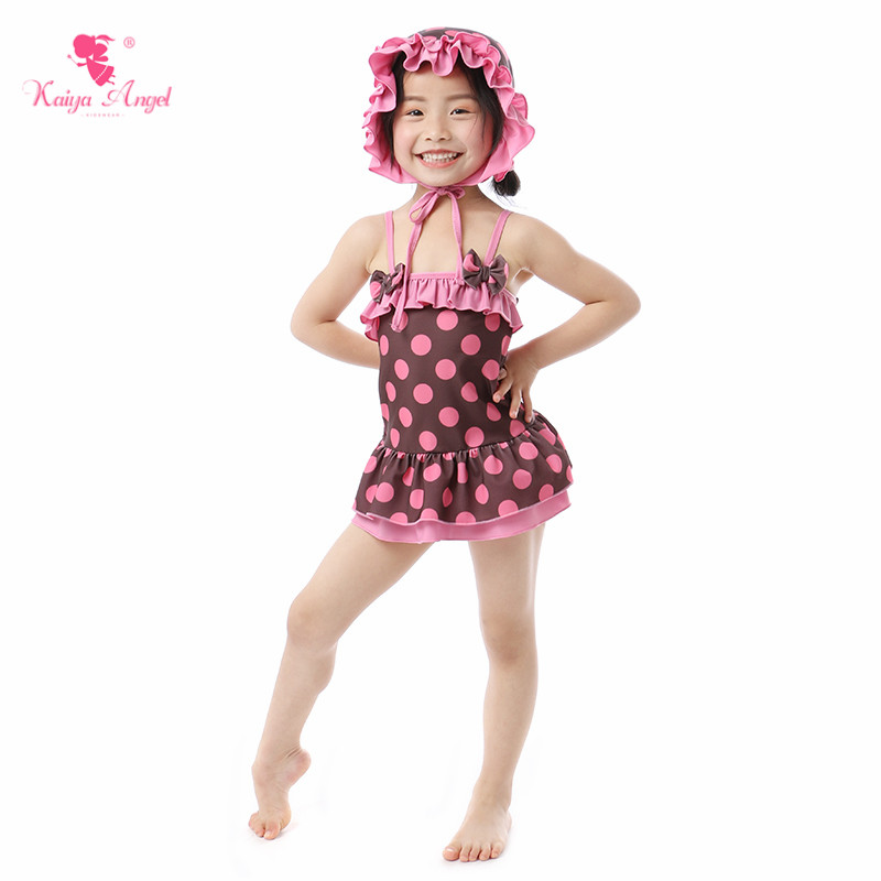 Kaiya Angel New Baby Girl Dot Bow One Pieces Hat Pink Lovely Summer Toddler Children Clothes Hot Sale 5pcs/lot Factory Wholesale