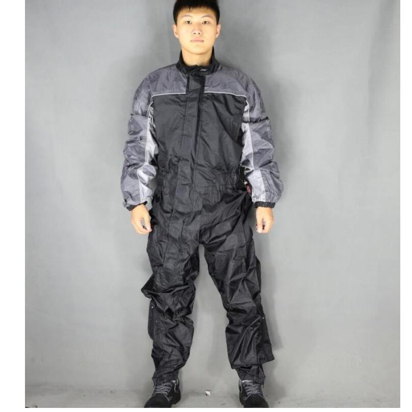 L-3XL Men's Motorcycle Jersey One-piece Raincoat Single Motorcycle Raincoat Repairman Jumpsuit Male Overalls Big Size Clothing