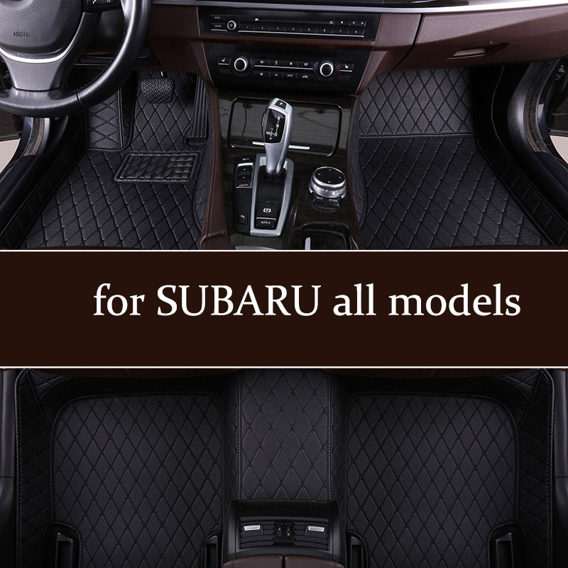 Custom Car Floor Mats For SUBARU Forester 2005-2018s Outback 2003-2019s Legacy XV Wrx Sti WRX Impreza BRZ Tribeca 2002-2019s Mat