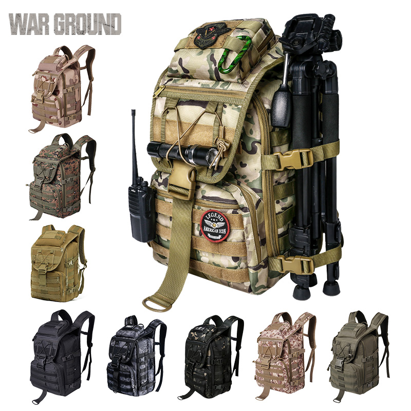 36L Swordfish Tactical Bag Multi-function Assault Backpack Outdoor Hunting Bag Camouflage Military Bag Hiking Camping Backpack