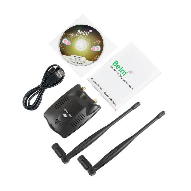 USB Wifi Адаптер 150 Мбит Высокой Мощности Двойной Wi-Fi Антенны 5dB 802.11b/g/n Wi-Fi Адаптер Беспроводной Сети карты USB Wi-Fi Приемник