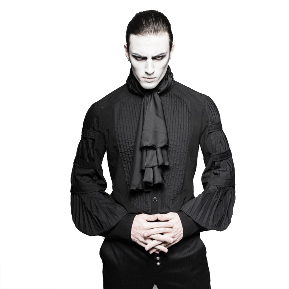 Buy gothic steampunk men ruffle blouses for Frilly shirts for men