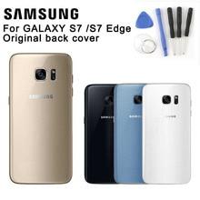 Samsung Original Back Battery Cover Glass Housing For SAMAUNG GALAXY S7 G9300 S7 Edge G9350 Back Battery Door Rear Glass Case стоимость