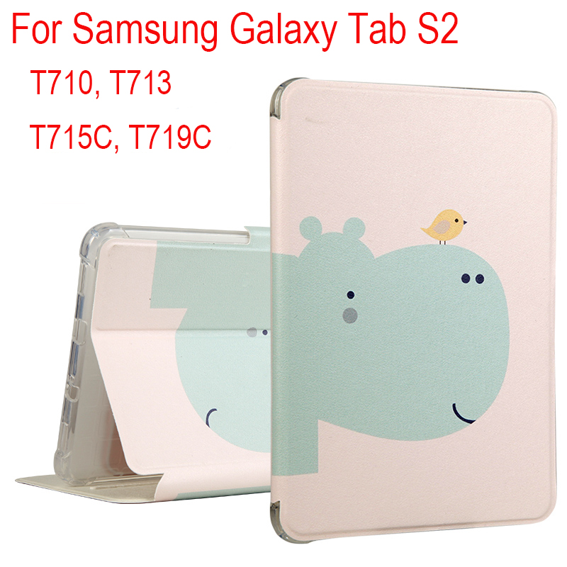 High quality PU+TPU Soft Shockproof Case Cover For Samsung Galaxy Tab S2 8.0 T710 T713 T715C T719C Tablets Protective skin+Gifts new x line soft clear tpu case gel back cover for samsung galaxy tab s2 s 2 ii sii 8 0 tablet case t715 t710 t715c silicon case