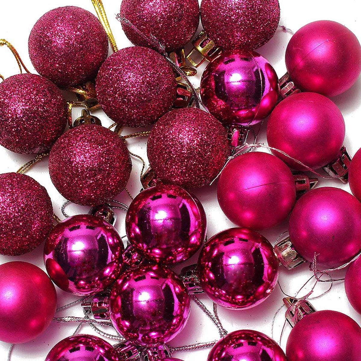 Rose christmas ornament - Jfbl Hot New 24pc Christmas Tree Decor Ball Bauble Hanging Xmas Party Ornament Decor Home Rose Red