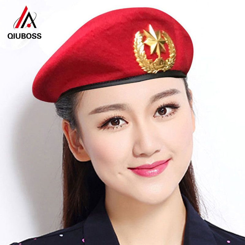2019 New Wool Felt Berets For Men Women All Seasons Unisex Casual Beret Sailors Dance Hat Dance Performance Army Fans Dome Cap(China)