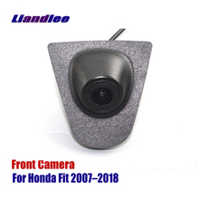 Liandlee AUTO CAM Car Front View Camera For Honda Fit 2007-2018 2015 2016 Logo Embedded  ( Not Reverse Rear Parking )