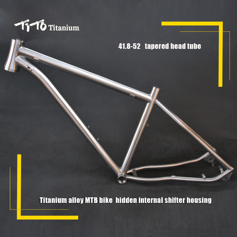 все цены на FREE SHIPPING !!! TiTo Titanium MTB bike frame 26``   27.5``  29`` 142-12 rear axle bicycle internal shifter housing онлайн