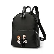 Новое Прибытие Черный Мягкий PU Кожаные Рюкзаки Простой Дизайн Сумка Модные женские Сумки Роскошные Дамы Мешок