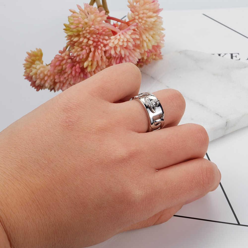 XIAOJINGLING панк Рок Сатурн кольцо для женщин девочек планета Сатурн геометрический палец кольцо Размер 6 S 16,5 мм кольцо ювелирное подарок