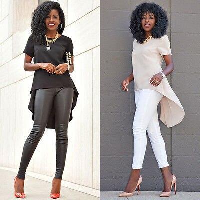 Plus Size women summer shirt Fashion Womens Loose Chiffon Tops Short Sleeve shirts Casual Blouse 1