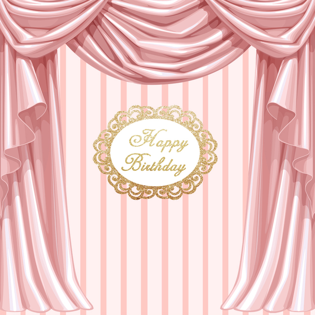 Birthday Party Photo Background Pink Curtain Dessert Table