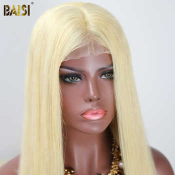 BAISI Brazilian Hair 13x6 Lace Front Wigs 613 Blonde Straight Full Lace Hair Wig with Pre-Plucked Nature Hairline
