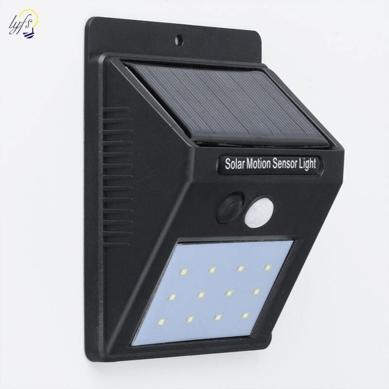 16/20/25/30 LED Solar licht Lampe Outdoor Garten lampe Dekoration PIR Motion Sensor Nacht Sicherheit wand licht Wasserdicht