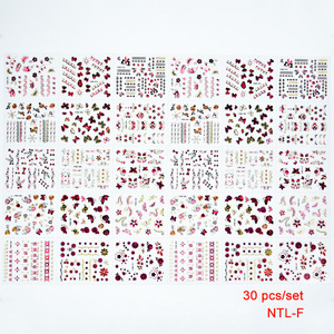 Image 4 - 30 PCS hot sale 2018 new arrival fashion Butterfly 3D water nail sticker removable nails art decals beauty accessory 5*6.