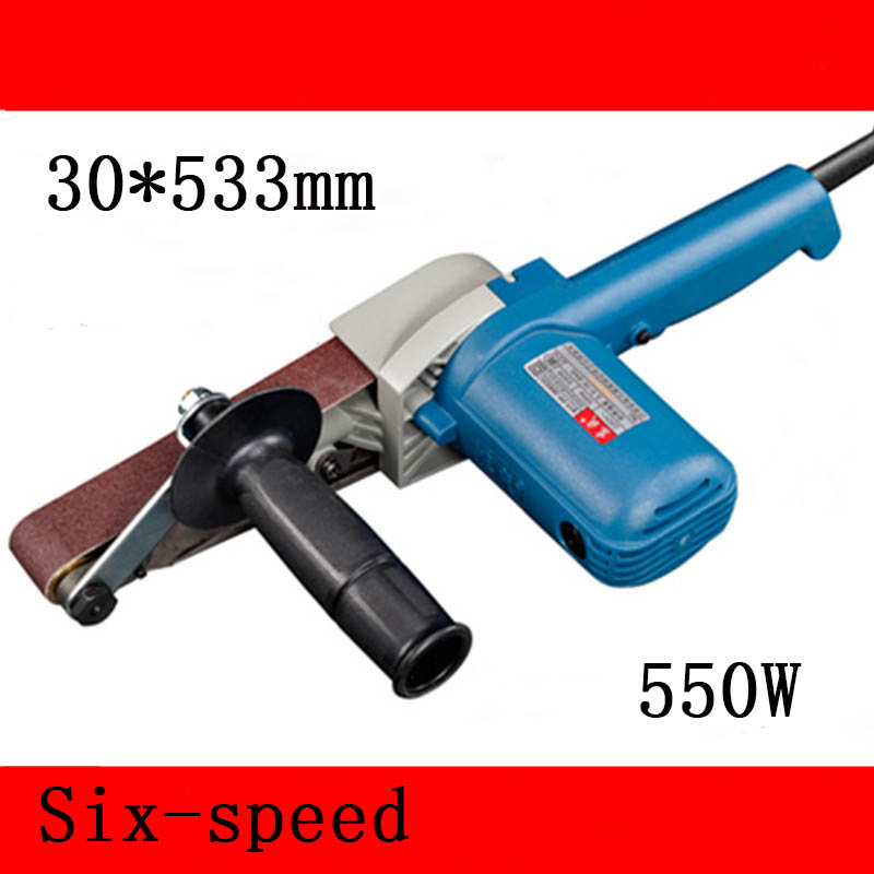 цена на Variable Speed 30*533mm Belt Sander 550w Portable Woodworking Belt Sanding/polishing machine 220v Sandpaper Grinder