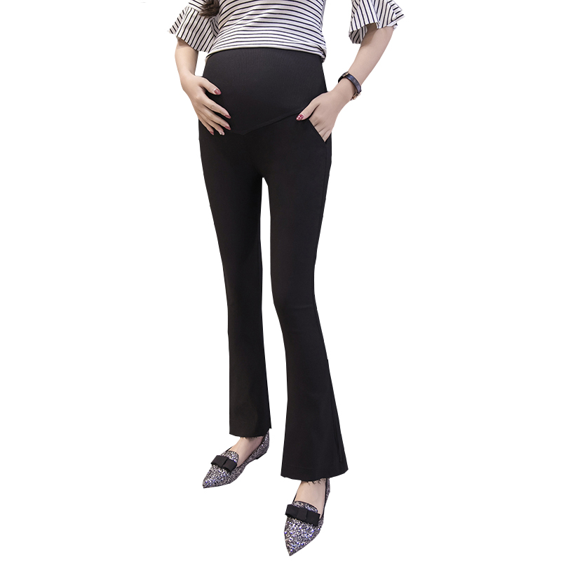 46d62d17cbf 221  Elastic Waist Belly Maternity Pants OL Office Ladies Formal Work Wear  Clothes for Pregnant Women Slim Pregnancy Trousers-in Pants   Capris from  Mother ...