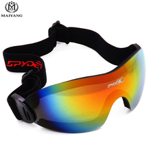 Winter Frameless Outdoor Ski Goggles UV400 Anti-fog Big Ski Mask Glasses Skiing Men Women Snow Snowboard Goggles HX-S