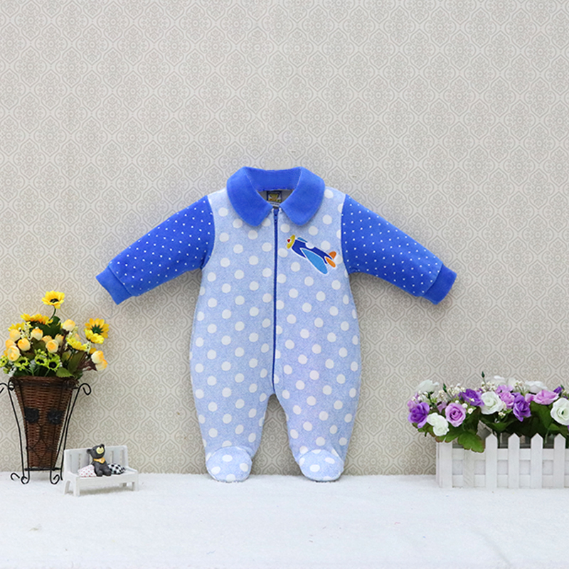 Baby Long Sleeve Peter Pan Collar Rompers One Piece Clothes