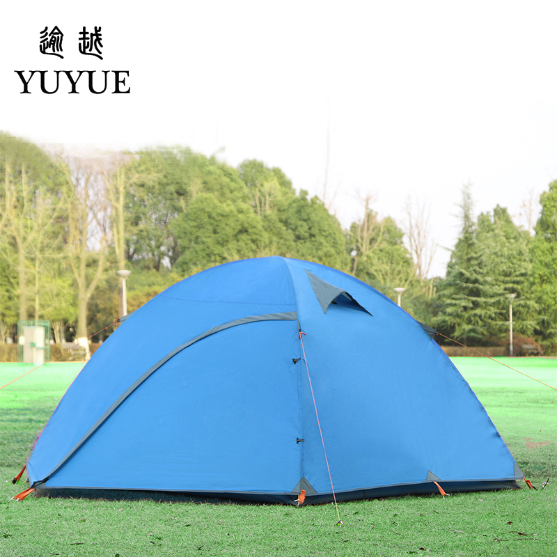 3-4 person waterproof tourist tent for hiking the tent camp Waterproof index 3000mm aluminium pole carpas de camping tente 4
