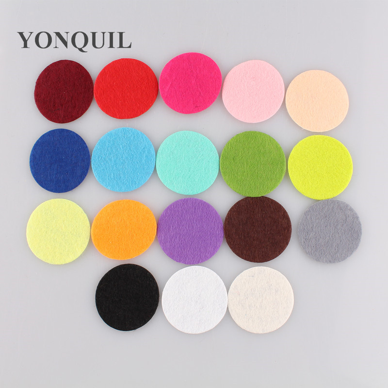 Free shipping many color 4.0cm Round Felt accessory patch circle felt pads,DIY flower material $9.28/LOT,1000PCS/LOT
